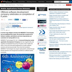 Offshore software development company celebrates on completion of 6 years