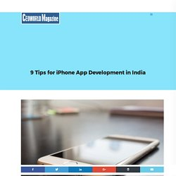 9 Tips for iPhone App Development in India