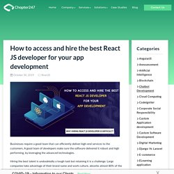 How to access and hire the best ReactJS Developer for App Development
