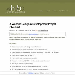 a website design development project plan checklist template - Web Design Project Ideas
