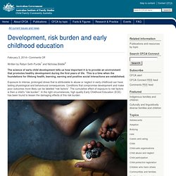 Development, risk burden and early childhood education - CFCA Connect - Child Family Community Australia (CFCA)
