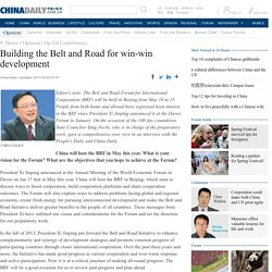 Building the Belt and Road for win-win development[1]- Chinadaily.com.cn
