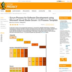 Scrum Process for Software Development using Microsoft Visual Studio Scrum 1.0 Process Template
