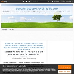 Essential Tips to Choose the Best Web Development Company - codwordglobal.over-blog.com