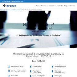 Website Designing & Development Company in Coimbatore