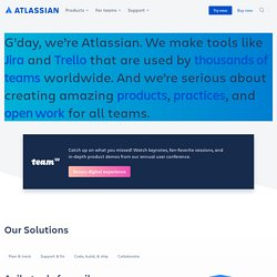Atlassian - Software Development and Collaboration Tools