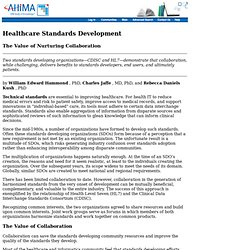 Healthcare Standards Development: The Value of Nurturing Collaboration