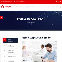 Mobile App Development Company - Android, E-Commerce Services