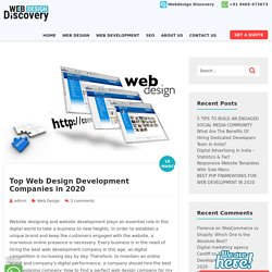 Top Web Design Development Companies - Web Design Discovery