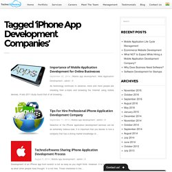 iPhone App Development Companies Archives -