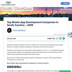 Top Mobile App Development Companies in South Carolina