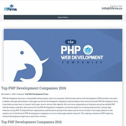 Top PHP Development Companies 2016 - IT Firms