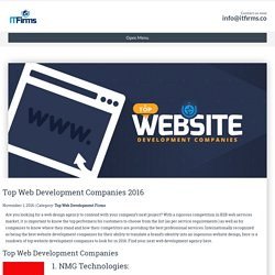 Top Web Development Companies 2016 - IT Firms