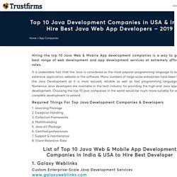 Top 10 Java Development Companies in India & USA
