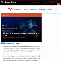 10+ Best PHP Development Companies to Watch out For in 2020