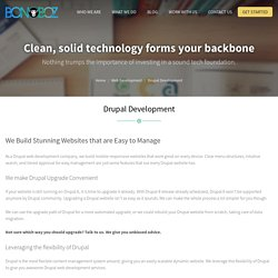 Drupal Web Development Company in Ahmedabad, India - Bonoboz