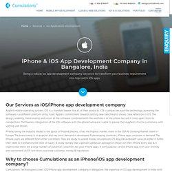 iPhone/iOS App Development Company in Bangalore, India