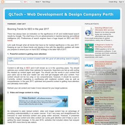 QLTech - Web Development & Design Company Perth: Booming Trends for SEO in the year 2017