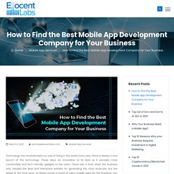 How to Find the Best Mobile App Development Company for Your Business