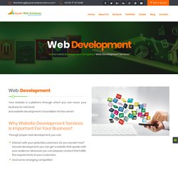 Web Development Company In Chennai, Web Development In Chennai