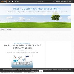 Roles Every Web Development Company Needs