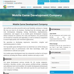 Mobile Game Development Company, Top Mobile Game Developers