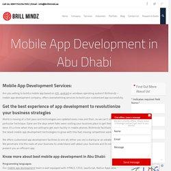 Mobile apps development company Abu Dhabi
