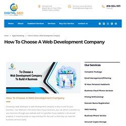 How to Choose a Web Development Company - Digital Seo Village