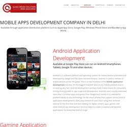 Mobile App Development Company in Gurgaon, Noida, Delhi