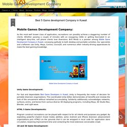 Mobile Game Development Company: Best 5 Game development Company in Kuwait