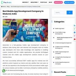 Mobile App Development Company in Madurai