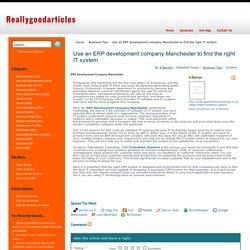 ERP Development Company Manchester