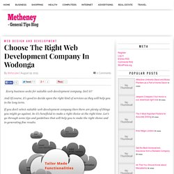 Choose The Right Web Development Company In Wodonga