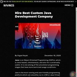 Hire Best Custom Java Development Company - Navines