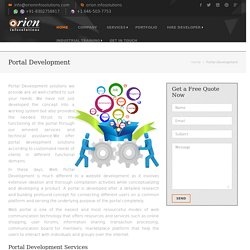 Web Portal Development Company India