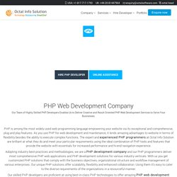 PHP Development Company, PHP Web Development Services