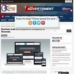Custom web development company in Toronto