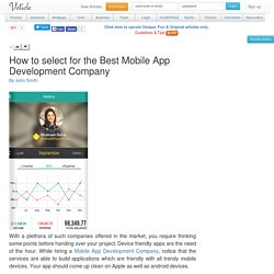 How to select for the best mobile app development company Voticle.com