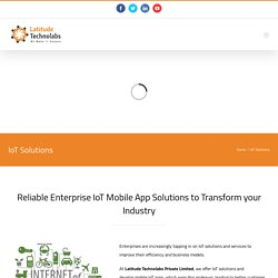 Iot Mobile app development service in India
