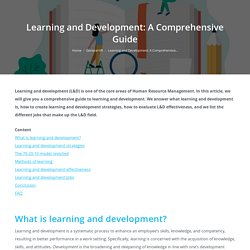 Learning and Development: A Comprehensive Guide