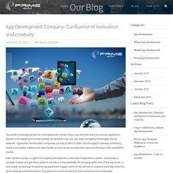 App Development Company- Confluence of innovation and creativity -