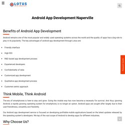 Naperville - ANDROID App DEVELOPMENT Services | Custom Android App Design, Re-Design & Development Company - LOTUS DIGITAL CONSULTANTS Inc.