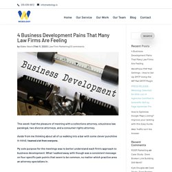 4 Business Development Pains That Many Law Firms Are Feeling - Hiring a Digital Marketing Agency: Best Local SEO Consulting, Google Ads Expert, Custom Website Design & Development Companies in Birmingham, Alabama
