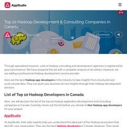 Top 10 Hadoop Development & Consulting Companies in Canada