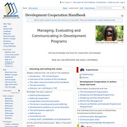 Development Cooperation Handbook