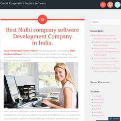 Nidhi company software provider company Jaipur.