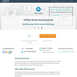 HTML5 Game Development Course (CS 255)