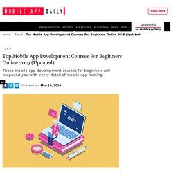 Top App Development Courses Online 2019 [Updated]