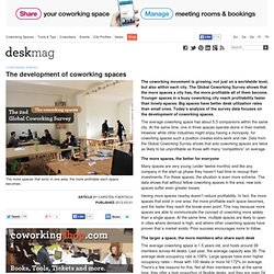 The development of coworking spaces