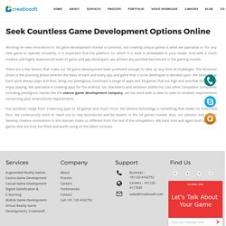 Elance Game Development - Creatiosoft Solutions Private Limited